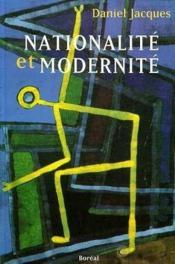 Nationalité et modernité - Couverture - Format classique