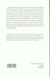 Peinture Au Feminin (La)(Vente Ferme) - 4ème de couverture - Format classique