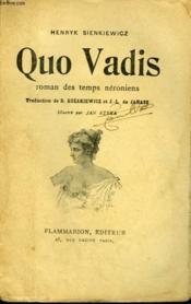 Quo Vadis. Roman Des Temps Neroniens. - Couverture - Format classique