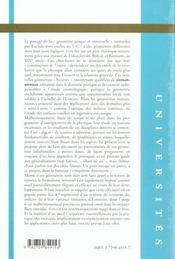 Utilisation du calcul tensoriel dans les geometries riemanniennes cours et exercices corriges - 4ème de couverture - Format classique