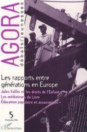 Rapports Entre Generations En Europe - Couverture - Format classique
