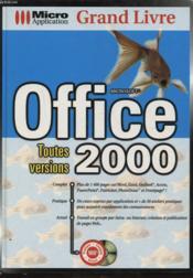 Grand livre office 2000 toutes versions - Couverture - Format classique