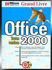 Grand livre office 2000 toutes versions - Intérieur - Format classique