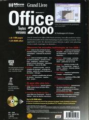 Grand livre office 2000 toutes versions - 4ème de couverture - Format classique