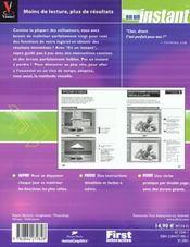 En Un Instant Photoshop 6 - 4ème de couverture - Format classique