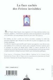 La Face Cachee Des Freres Invisibles - 4ème de couverture - Format classique