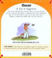 Oscar Et Leo Le Bagarreur - 4ème de couverture - Format classique