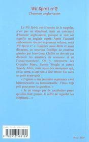 Wit spirit t.2 - 4ème de couverture - Format classique