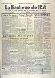 Banlieue De L'Est (La) N°20 du 26/10/1947 - Couverture - Format classique