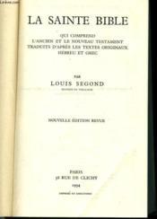 La Sainte Bible - Couverture - Format classique