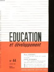 Education Et Developpement N°44 - Couverture - Format classique