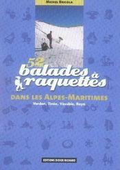 52 balades à raquettes dans les alpes-maritimes - Intérieur - Format classique