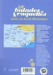 52 balades à raquettes dans les alpes-maritimes - 4ème de couverture - Format classique