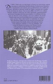 Les débuts du syndicalisme féminin chrétien en France (1899-1944) - 4ème de couverture - Format classique