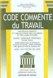 Code Commente Du Travail - Intérieur - Format classique