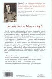 La Cuisine Du Bien Maigrir - 4ème de couverture - Format classique