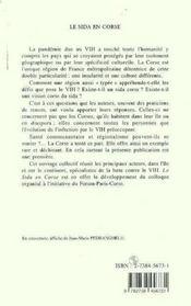 Le Sida En Corse - 4ème de couverture - Format classique