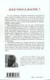 Avez-Vous Lu Racine ; Mise Au Point Polemique - 4ème de couverture - Format classique