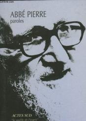 Paroles - Couverture - Format classique