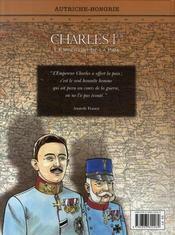 Charles 1er, l'empereur de la paix - 4ème de couverture - Format classique