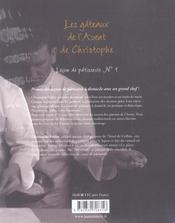 Gateaux De L'Avent De Christophe . Lecons De Patisserie N 1 (Les) - 4ème de couverture - Format classique