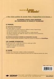 Le Cahier Cm1 Sciences A Nous Le Monde Cycle Iii - 4ème de couverture - Format classique