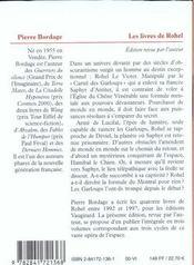 Rohel t.3 ; cycle de saphyr - 4ème de couverture - Format classique