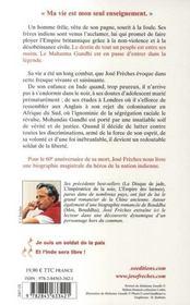 Gandhi ; Je Suis Un Soldat De La Paix - 4ème de couverture - Format classique
