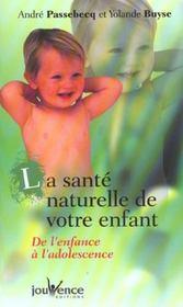 Sante naturelle de votre enfant (la) - Intérieur - Format classique