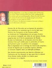 Chirundu - 4ème de couverture - Format classique