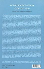Le Partage Des Savoirs, Xviii-Xix Siecles - 4ème de couverture - Format classique