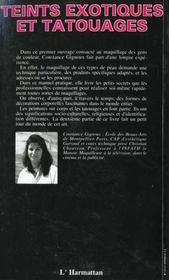 Teints Exotiques Et Tatouages - 4ème de couverture - Format classique