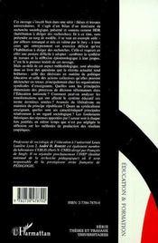 Actions et décisions dans l'éducation nationale ; un itinéraire dans la recherche - 4ème de couverture - Format classique
