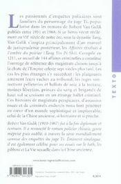 Affaires résolues à l'ombre du poirier ; un manuel chinois de jurisprudence et d'investigation policière du XIII siècle - 4ème de couverture - Format classique