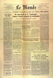 Monde (Le) N°900 du 19/12/1947 - Couverture - Format classique