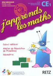 J'Apprends Les Maths ; Ce1 ; Livre De L'Elève - Intérieur - Format classique