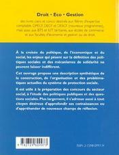 Le Systeme De Protection Sociale - 4ème de couverture - Format classique