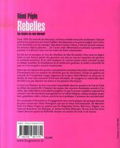 Rebelles, une histoire du rock alternatif - 4ème de couverture - Format classique