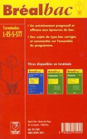 Bb philosophie terminales - 4ème de couverture - Format classique