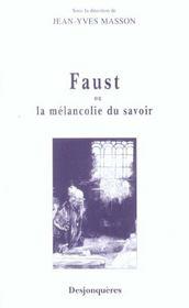 Faust Ou La Melancolie Du Savoir - Intérieur - Format classique
