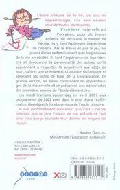 Qu'apprend-on a l'ecole maternelle ? les programmes (edition 2007-2008) - 4ème de couverture - Format classique