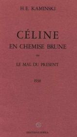 Celine En Chemise Brune - Couverture - Format classique