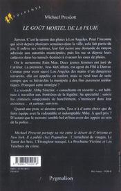 Le Gout Mortel De La Pluie - 4ème de couverture - Format classique