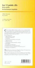Les Douze Points Clef De La Carriere Du Fonctionnaire Hospitalier - 4ème de couverture - Format classique