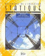 Statique: Mecanique De L'Ingenieur. Avec1 Cd Rom Mecanique, Genie Mecanique - Intérieur - Format classique