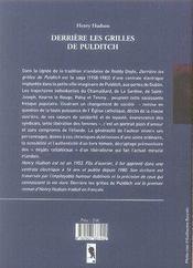 Derriere Les Grilles De Pulditch - 4ème de couverture - Format classique