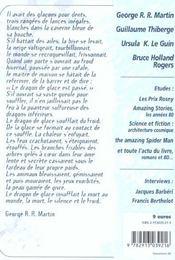 Revue Bifrost T.28; Dragon De Glace - 4ème de couverture - Format classique