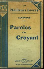 Paroles D'Un Croyant. Collection : Les Meilleurs Livres N° 137. - Couverture - Format classique