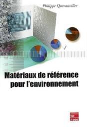 Materiaux de reference pour l'environnement - Couverture - Format classique