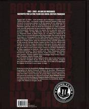 40 ans de musiques au Gibus - 4ème de couverture - Format classique